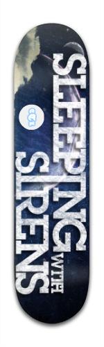 Sleeping with sirens Banger Park Skateboard 8 x 31 3/4