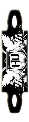 Hollywood Undead longboard Gnarlier 38 Complete Longboard