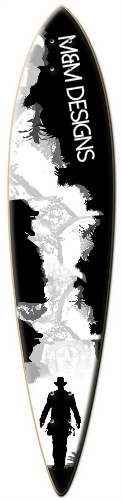 M&M designs cool black and white Surf Dart