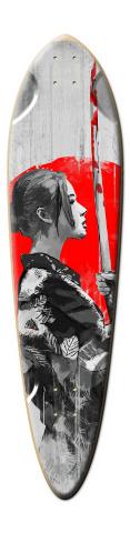 M&M designs - SamuraiGirl Dart Skateboard Deck