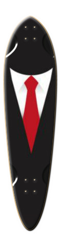 M&M designs-black man Dart Skateboard Deck
