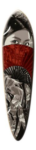 M&M designs -SamuraiGurl Dart Skateboard Deck