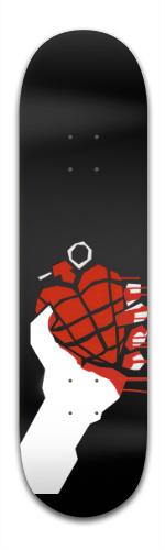 American Idiot Heart Banger Park Skateboard 8.5 x 32 1/8
