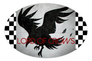 Lord of Crows Sticker 6 x 4 Oval