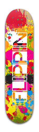 Flippin Paint Skateboard Banger Park Skateboard 8 x 31 3/4