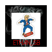 Ethan v donald trump skate sticker Sticker 4 x 4 Square