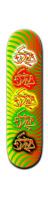 GEE-DAM Rasta Extrav Park Skateboard 8 1/4  x 32