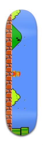 Super Mario Bros Banger Park Skateboard 8 x 31 3/4