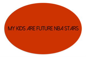 bball Sticker 6 x 4 Oval