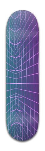 vaporwave grid Banger Park Skateboard 8 x 31 3/4