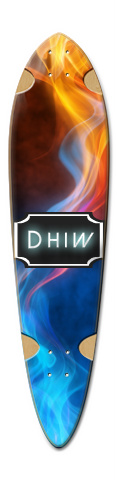 Red & Blue Dart Skateboard Deck v2