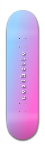 the aesthetic deck Banger Park Skateboard 7 7/8 x 31 5/8