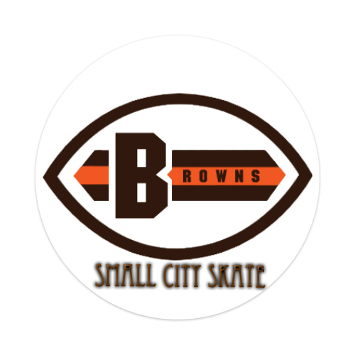Browns Sticker 4 x 4 Circle