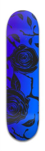 blue rose & thorns Banger Park Skateboard 7 7/8 x 31 5/8