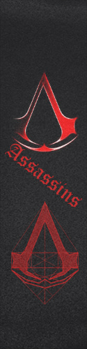 assassins code Custom skateboard griptape