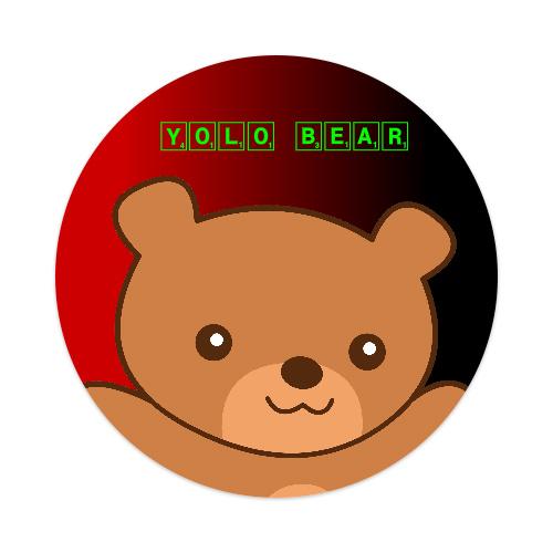 yolo bear sticker Sticker 4 x 4 Circle