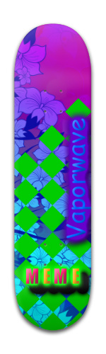 Vaporwave is the future Banger Park Skateboard 8 x 31 3/4