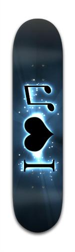 I Heart Music Banger Park Skateboard 7 3/8 x 31 1/8