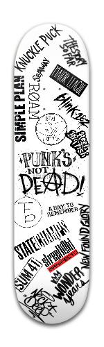 punks not dead Banger Park Skateboard 8 x 31 3/4