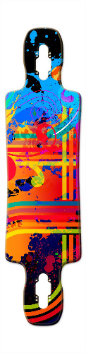 color Gnarlier 38 Skateboard Deck v2