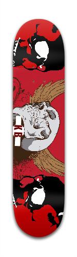 skulls Banger Park Skateboard 7 3/8 x 31 1/8