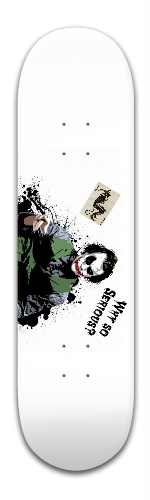 Heath Ledger Joker Banger Park Skateboard 8.5 x 32 1/8