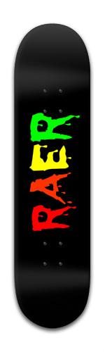 rainbow Raer logo Banger Park Skateboard 8 x 31 3/4