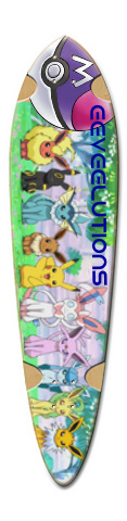 EEVEELUTION Dart Skateboard Deck v2