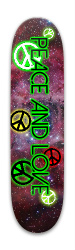 PEACE AND LOVE Park Skateboard 7.88 x 31.495