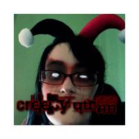 Creepy Quinn Sticker 4 x 4 Square