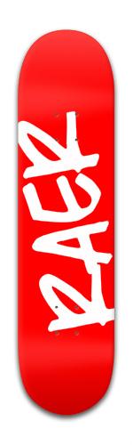 Raer logo red Park Skateboard 8 x 31 3/4