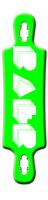 Raer longboard logo green B52