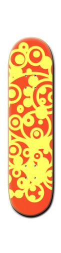 Lava swirls Banger Park Skateboard 8 1/4  x 32