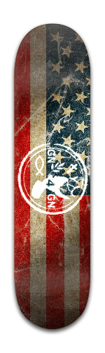 G.R.I.N.D Nation 4 God's Nation Banger Park Skateboard 8 x 31 3/4