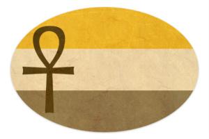 Anubis Arts Old Egyption Pride Sticker 6 x 4 Oval
