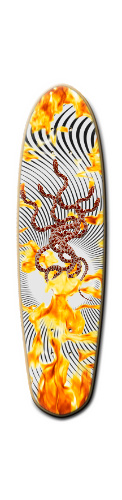 Ambassadors of hell Custom Riviera Anatomy of a Skateboard 8 x 30
