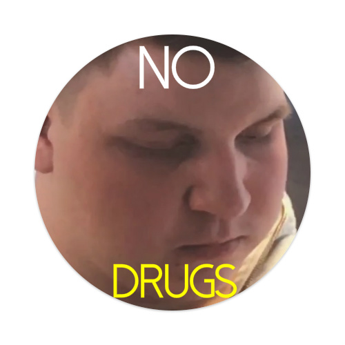 NODRUGS Sticker 4 x 4 Circle