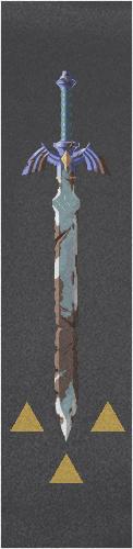 BOTW master sword Custom longboard griptape