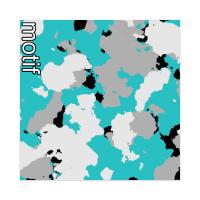 motif | splattercamo | blue & white Sticker 4 x 4 Square