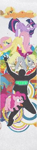 Get Ponies REKT Custom skateboard griptape