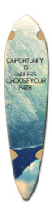 ride like you have no curfew Dart Skateboard Deck v2