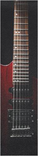 Red Electric Guitar Grip Custom longboard griptape