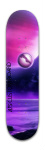 purple planets Park Skateboard 8 x 31 3/4
