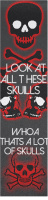 Skulls, bro, skulls. Custom longboard griptape