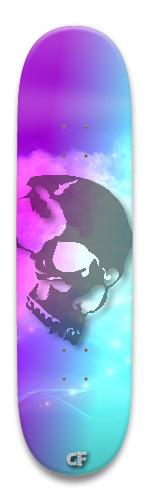 teal bone Park Skateboard 8.5 x 32.463