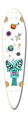 Alien Spread Dart Skateboard Deck v2