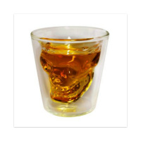skull shotglass Sticker 4 x 4 Square