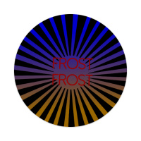 rising sun frost Sticker 4 x 4 Circle