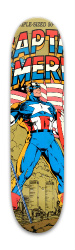 Captain America 50th Anniversary Co Park Skateboard 7.88 x 31.495