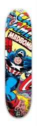 Captain America Madbomb Park Skateboard 7.88 x 31.495